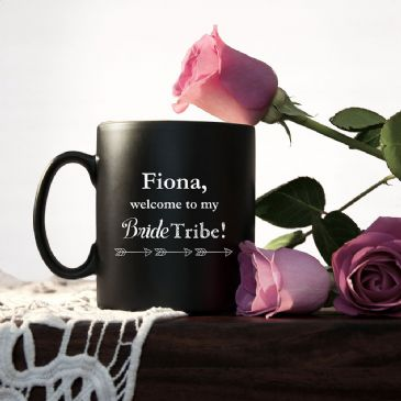Welcome To The Bride Tribe Personalised Bridesmaid Propsal Mug